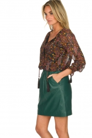 Est-Seven | Leather skirt Mylenna | green  | Picture 4
