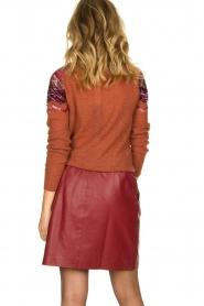 Est-Seven | Leather skirt Mylenna | burgundy  | Picture 5