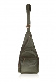 Est-Seven |  Leather shoulder bag Mirella | green  | Picture 1