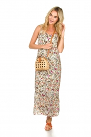 Aaiko |  Floral maxi dress Fiebe | mint green  | Picture 3