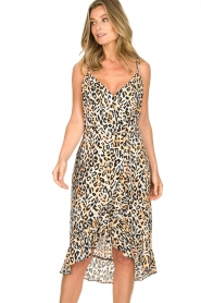 Aaiko |  Leopard printed dress Annika | natural  | Picture 2