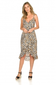 Aaiko |  Leopard printed dress Annika | natural  | Picture 3