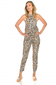 Aaiko |  Leopard printed jumpsuit Salita | natural  | Picture 2