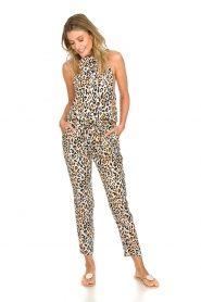 Aaiko |  Leopard printed jumpsuit Salita | natural  | Picture 3