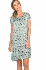 Aaiko |  Printed dress Madrid | blue  | Picture 2