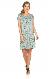 Aaiko |  Printed dress Madrid | blue  | Picture 3