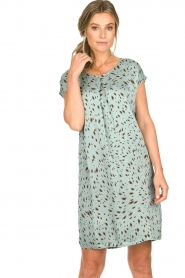 Aaiko |  Printed dress Madrid | blue  | Picture 4