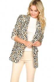 Aaiko |  Leopard printed blazer Adeline | natural  | Picture 2