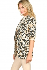 Aaiko |  Leopard printed blazer Adeline | natural  | Picture 4