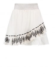 Aaiko |  Embroidered skirt Patna | white  | Picture 1