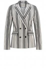 Aaiko |  Striped blazer Cella | white   | Picture 1