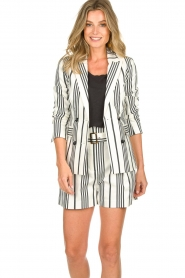 Aaiko |  Striped blazer Cella | white   | Picture 2