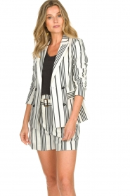 Aaiko |  Striped blazer Cella | white   | Picture 4