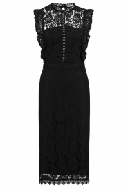 Aaiko |  Lace dress Lonne | black  | Picture 1