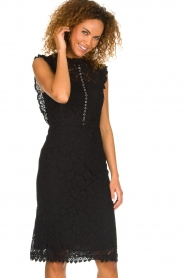 Aaiko |  Lace dress Lonne | black  | Picture 4