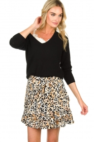 Aaiko |  Leopard printed skirt Salienta | natural  | Picture 2