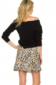 Aaiko |  Leopard printed skirt Salienta | natural  | Picture 5
