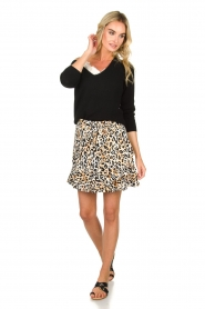 Aaiko |  Leopard printed skirt Salienta | natural  | Picture 3