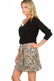 Aaiko |  Leopard printed skirt Salienta | natural  | Picture 4