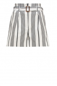 Striped shorts Iza | white
