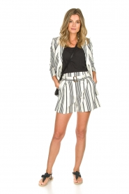 Aaiko |  Striped shorts Iza | white  | Picture 3