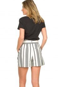 Aaiko |  Striped shorts Iza | white  | Picture 6