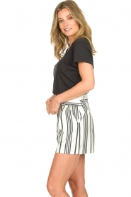 Aaiko |  Striped shorts Iza | white  | Picture 5