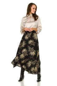 ba&sh | Skirt with print Edna | black  | Picture 2