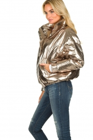 ba&sh |  Metallic down jacket Darcy | metallic  | Picture 5
