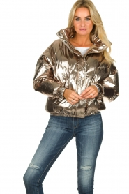 ba&sh |  Metallic down jacket Darcy | metallic  | Picture 4