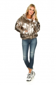 ba&sh |  Metallic down jacket Darcy | metallic  | Picture 3