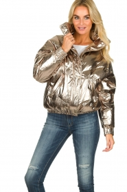 ba&sh |  Metallic down jacket Darcy | metallic  | Picture 2