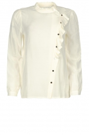 ba&sh |  Ruffle blouse Real | white  | Picture 1