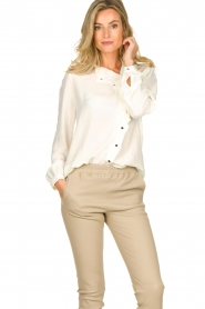 ba&sh |  Ruffle blouse Real | white  | Picture 2