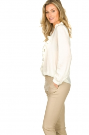 ba&sh |  Ruffle blouse Real | white  | Picture 4