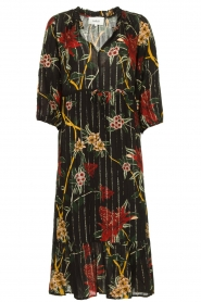 ba&sh |  Floral midi dress Patty | black  | Picture 1
