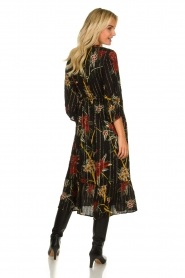 ba&sh |  Floral midi dress Patty | black  | Picture 5