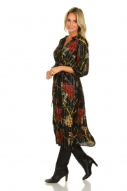 ba&sh |  Floral midi dress Patty | black  | Picture 2