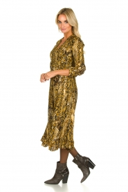 ba&sh |  Snake print midi dress Sahara | camel  | Picture 3
