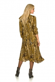 ba&sh |  Snake print midi dress Sahara | camel  | Picture 4