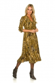 ba&sh |  Snake print midi dress Sahara | camel  | Picture 2