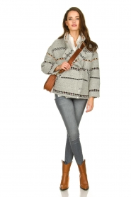 ba&sh |  Coat with prints Eden | grey  | Picture 3