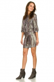 ba&sh |  Metallic dress with open back Salina | metallic  | Picture 3