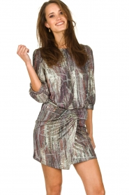 ba&sh |  Metallic dress with open back Salina | metallic  | Picture 2