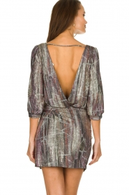 ba&sh |  Metallic dress with open back Salina | metallic  | Picture 5