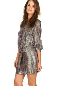 ba&sh |  Metallic dress with open back Salina | metallic  | Picture 4