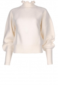 ba&sh |  Turtleneck sweater with balloon sleeves Raph | wit  | Picture 1