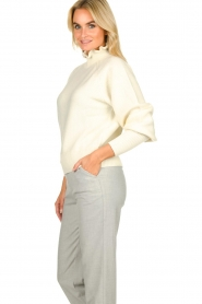 ba&sh |  Turtleneck sweater with balloon sleeves Raph | wit  | Picture 4