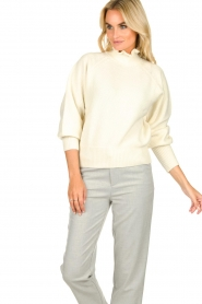 ba&sh |  Turtleneck sweater with balloon sleeves Raph | wit  | Picture 2