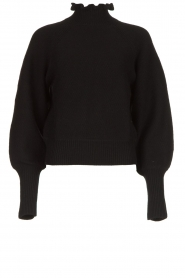 ba&sh |  Turtleneck sweater with balloon sleeves Raph | black  | Picture 1